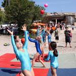 Les jeunes licenciées de l'association gymnique de Balagne