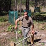 Christophe Acquaviva responsale du service entretien de la pinède de Calvi