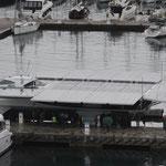 Effectué à, partir de la seule énergie solaire captée par les panneaux déployés du navire