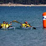 Une arrivée triomphale en kayak