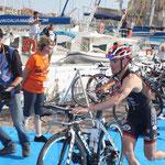Après la natation le vélo
