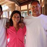 Jean Gour (à droite) avec Chloé Carlotti entraîneur de ligue et Anthony Zaru