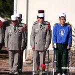 Présents à la cérémonie des blessés de l'accident qui a coûté la vie au légionnaire Vinkovic