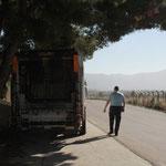Le camion à son endroit de stationnment