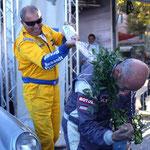Le podium 2011 : Oreille arrosé Gache à l'eau d'Orezza
