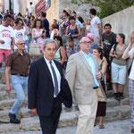 Au premier rang des personnalités le maire de Calvi Ange Santini et le sous-préfet de l'arrondissement Stéphane Donnot