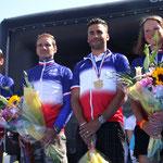 Le podium tricolore 2012 dans les deux catégories hommes et femmes