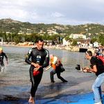 Les premiers à sortir de l'eau