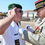 Remise de la Légion d'honneur à l'Adj-chef (er) Ackermans