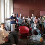 Réception à l'hôtel de Villle pour Xavier Giannoli et Kad Merad