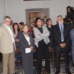 Paul Lions (à droite) maire de Corbara et des élus