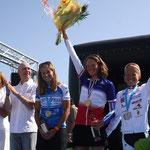 Le podium filles en Elite