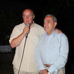 Bernard Giudicelli et Jean Gachassin, vice-président et président de la Fédération française de tennis