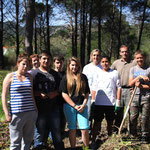 Le groupe du chantier nature