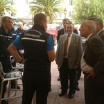 Au stand de la gendarmerie