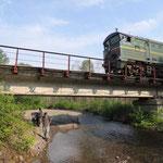 trein bij Tumnin rivier