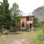 een van de berg hutten