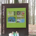 Informatie bord Landgoed Paltz