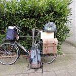 het houttransport vanaf Meubelmakerij Muurhuizen naar huis