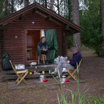 Lohja camping (drogen van de tent)