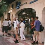 Hotel Alicante, wachten op vervoer