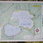 kaart Crno Jezero