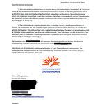 Brief aan terrein beheerders