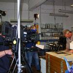 Der hessische Rundfunk bei der Druckerei Eisenhardt in Frankfurt am Main!