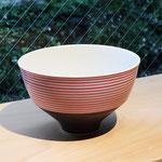 有田焼 呉須千段 赤 飯碗