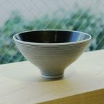 有田焼 黒呉須象嵌 飯碗