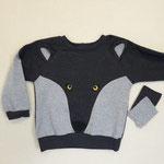 Kindershirt: Gr. 80 je 40cm baumwolljerse oder Sweat in 2 Farben, Jerseyreste und Vliesofix für Applikationen