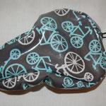 Fahrradsattelbezug: 20-25cm laminierte Baumwolle, Gummikordel, Versteller