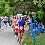 Nach der erste Hälfte des Marathons