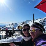 Auf der Skihütte am Mount Ruhapeho