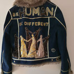 "Winter-Jeansjacke, Modell 27 ""be human - be different"""