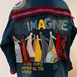 "Jeansjacke oversize, ""imagine"", Modell 09"