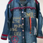 "Jeansjacke oversize, ""imagine"", Modell 09"
