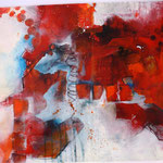 Landschaft rot-weiß; 70x50