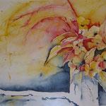 Blumenvase; Aquarell