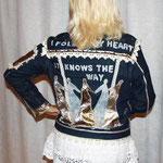 "Jeansjacke, M:30, ""my heart knows the way"""