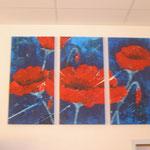 Mohn in Blau; 80x140