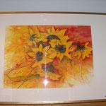 Sonnenblumen; Aquarell