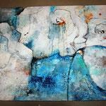 Fantasieblumen blau; 120x60