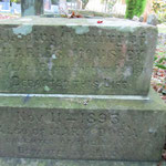 The grave of Hugo Moreton Phillips who died on 12 October 1877 aged 81.