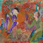 Tout un monde Dimanche, fin d'après-midi en automne, 2009, miniature, 12x12cm