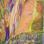 Patience orange, 2010, toile sur châssis, 27x35 cm