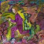 En mouvement, 2009, miniature, 12x12 cm