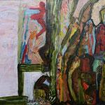 Coulisses et balcons, 2013, toile sur châssis, 35x50 cm