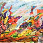 Etude multicolore, 2010, papier enduit, 32x24 cm