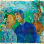 Sous bois, 2009, papier enduit, 29,5x21 cm